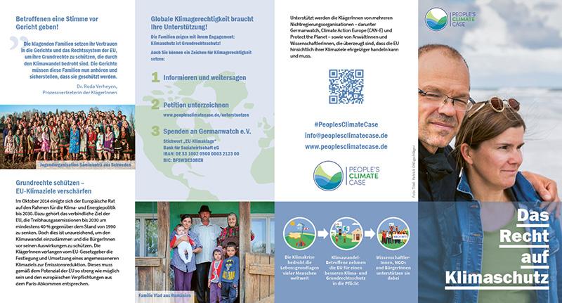 Peoples Climate Case Flyer (Außenseite)