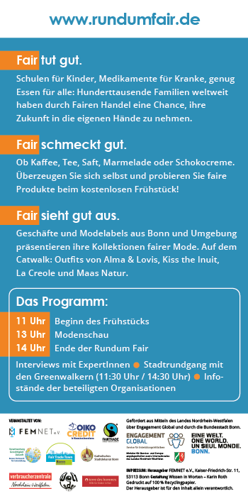 Rundum Fair – Flyer (Rückseite)