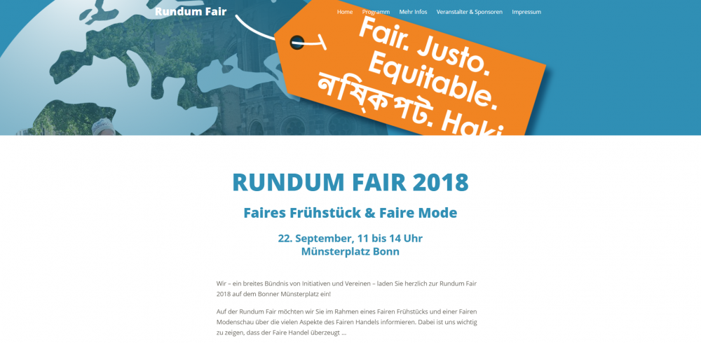 Rundum Fair – Website (Screenshot)