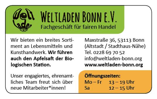 Weltladen Bonn – Anzeige