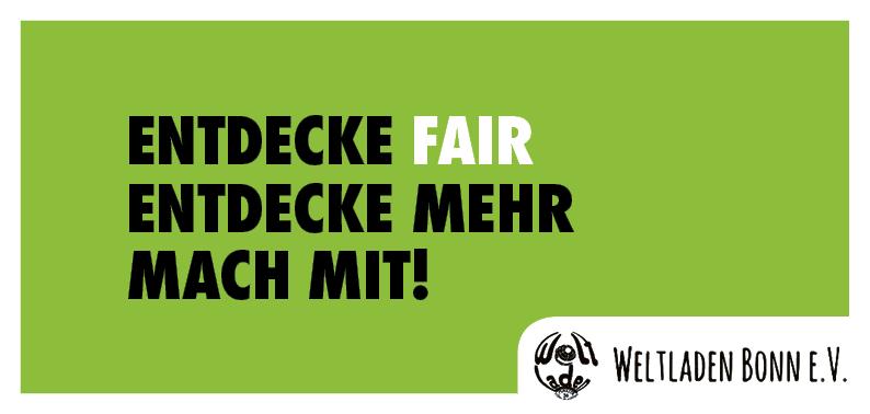 Weltladen Bonn – Mitmach-Flyer (Vorderseite)