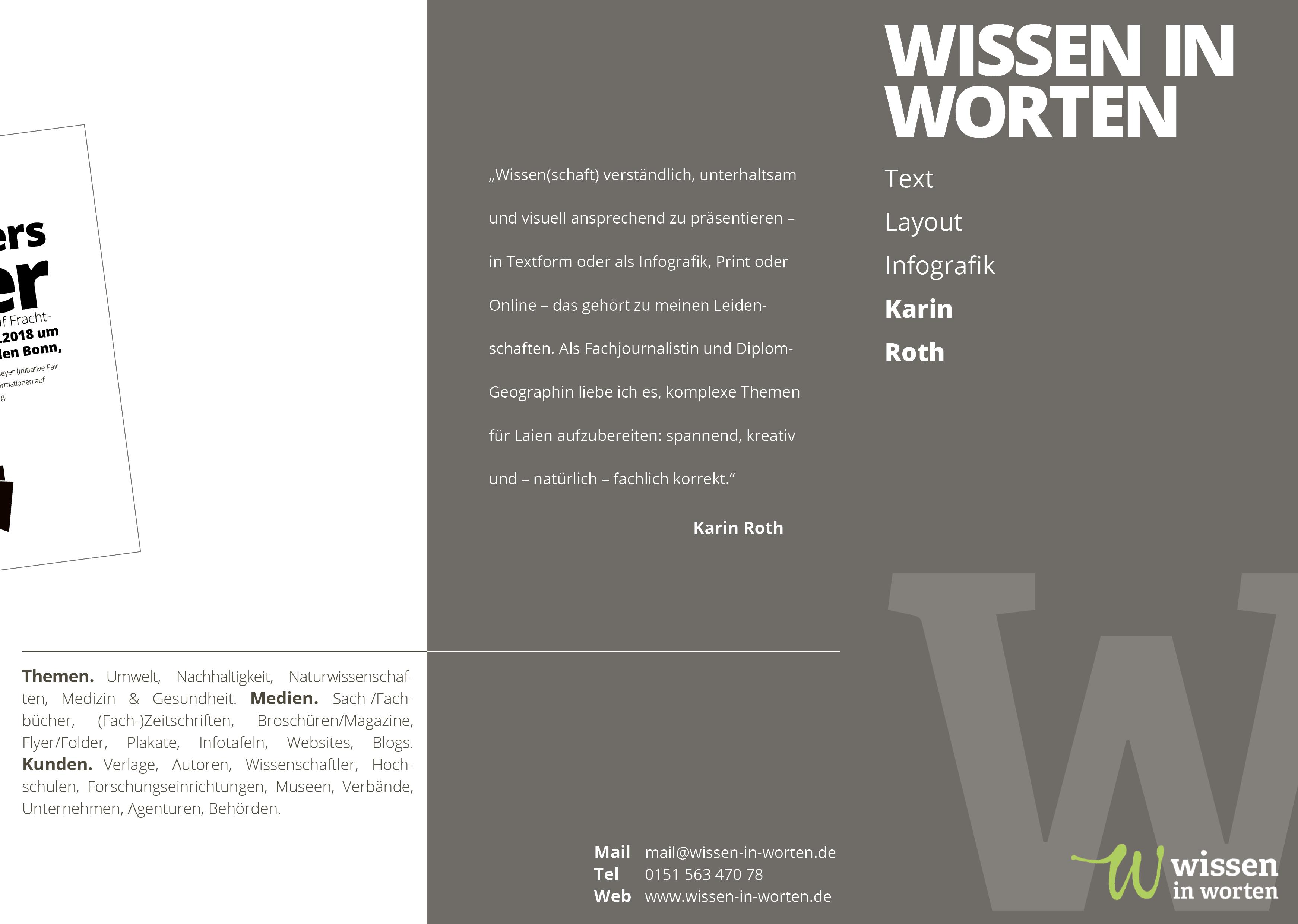 Wissen in Worten – Flyer (Außenseite)